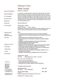 Maths Teacher Cv Math Teacher Resume Luxury Service Resume Resume