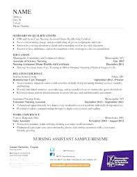 Nursing Aide Resume Coachfederation
