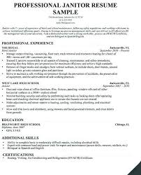 Cleaning Job Resume Best Of Sample Resume House Cleaning Job Professional Janitor R Yomm