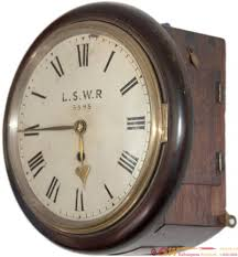 london and south western railway 8 inch dial