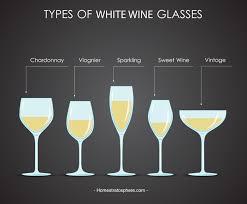b white wine glasses