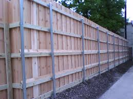 image of metal fence posts for wood height metal fence post99 post