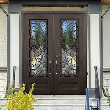 Residential front doors wood Glass Iron Ebevalenciaorg Exterior Doors The Home Depot
