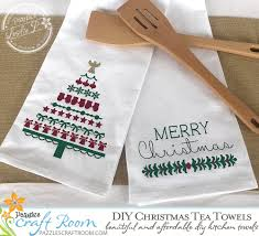 Christmas is round the corner, time for lots of fun and gifts. Diy Christmas Tea Towels With Svg Download Pazzles Craft Room