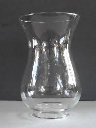 glass hurricane lamp shade 2 7 8 inch fitter x 8 bulbous 1 2 in neck