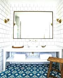 blue white bathroom wallpaper large tiles and design ideas brown bathrooms exciting