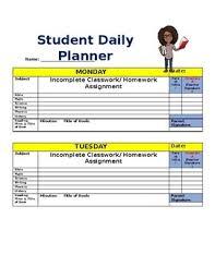 Student Daily Planner Student Daily Planner By Nandi Rolle Teachers Pay Teachers