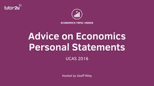Advice On Economics Personal Statements