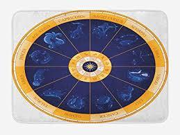 Amazon Com Taqats Astrology Bath Mat Natal Birth Chart