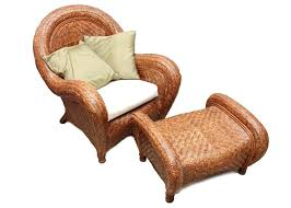 rattan wingback chair pottery barn rattan chair and ottoman indoor wicker wingback chairs