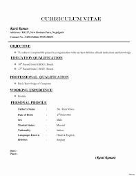 Different Types Of Resume Unique Different Types Resume Format Free