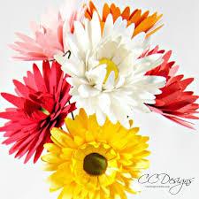 Daisy Paper Flower Small Gerbera Daisy Paper Flower Template