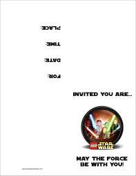 018 Star Wars Invitations Template Ideas Wonderful Birthday