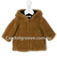 and tess jackets hooded faux fur jacket brown baby girls clothing 1173945