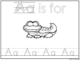 Practice sheets for working on long and short sounds. Alphabet Animal Phonics Color And Trace Worksheets Etsy