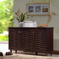 Copper Grove Angelina Dark Brown 3-door Shoe Cabinet