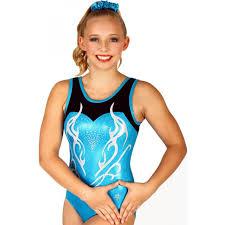 Imperial Turquoise Sleeveless Gymnastics Leotard