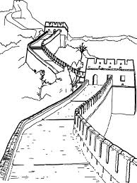 Worldwonders Great Wall China Coloring Pages Batch Coloring Ahg