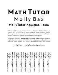 Math Tutor Flyer Konmar Mcpgroup Co