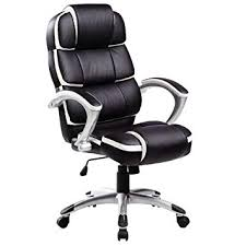 Luxurious office chairs Flat Office Oypla Luxury Designer Computer Office Chair Black With White Accents Amazon Uk Oypla Luxury Designer Computer Office Chair Black With White