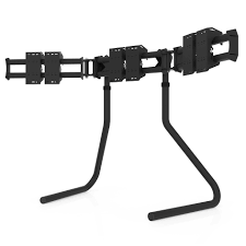 Triple Display Monitor Stand RS STAND T100L Triple TV Stand Black RSEAT Gaming seats Cockpits 84