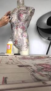 How to make a mannequin lamp. Part 1 : Decoupage