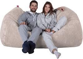Lounge Pug® - Pom Pom - GIANT Bean Bag SOFA - Beanbag SOFA UK - IVORY:  Amazon.co.uk: Kitchen & Home