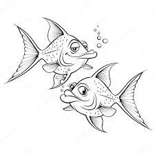 Disegni Pesci Cartoon Cartone Animato Disegno Pesce Vettoriali
