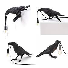 HENGGE <b>Auspicious Bird</b> Lamp Led <b>Table Lamps</b> Modern Resin ...