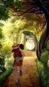 cute anime wallpaper iphone.  Anime 1176 3 Grove Totoro With Umbrella Waiting Kids Road Anime Cartoon Cute  Film IPhone 6s 8 Wallpaper Intended Iphone