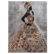 image is loading adorned african ladies woman canvas gold 3d effect  on 3d wall art woman with adorned african ladies woman canvas gold 3d effect picture wall art