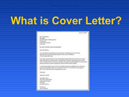What is cover letterWhat is Cover Letter?