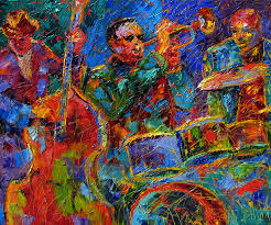 jazz painting abstract figurative art oil on canvas by debra hurd