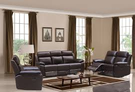 hr046b g03 husky leo reclining sofa set brown