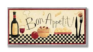 Bon Appetit Wall Decor Plaques Signs Amazon Stupell Home Décor Bon Appetit Kitchen Wall Plaque 100 80