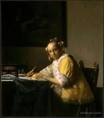 johannes vermeer dutch baroque dutch golden age a lady writing c