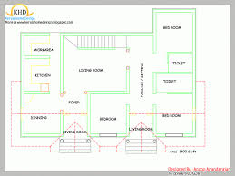 single floor house plan and elevation 1400 sq ft home appliance plans in sri single floor