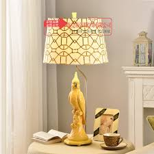 tuda 38x76cm free parrot shaped resin table lamp american country style table lamp for bedroom