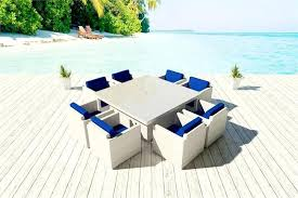 Blue And White Patio Furniture White Wicker Patio Furniture Club