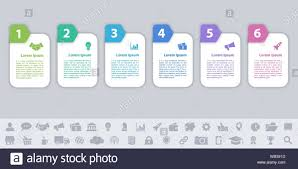 Business Infographic Design Template With 6 Steps Or Options