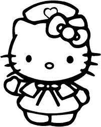 Hello Kitty Nurse Coloring Pages Google Search Hellokitty