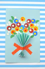 Mother Day Card Floral Handmade Mothers Day Card So Easy Diy Candy