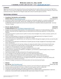 Resume For Registered Nurse Best Michael Leon RN Resume 48