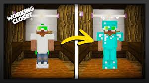 Minecraft Closet Design Minecraft How To Make A Working Closet