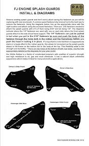 rad rubber fj engine splash guards fj splash guards 49 95 rad rubber fj engine splash guards