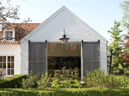 exterior barn door designs. Doors, Exciting Exterior Barn Doors Door Ideas And Green Garden Crisp White Designs S