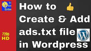 how to create add ads txt