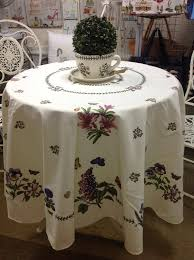 90 inch round tablecloth lovely portmeirion botanic garden round tablecloth