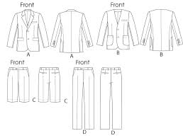 Suit Pattern Beauteous V48 Men's Suit Jackets Shorts And Pants Sewing Pattern Vogue