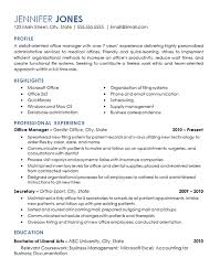 Office Management Resume Example Medical Dental Office